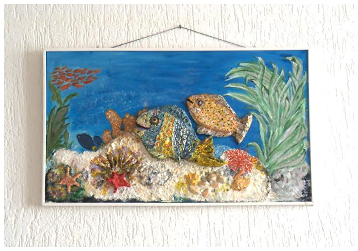 """""""In fondo al mar"""" basso rilievo opera di Laura Minuti"""